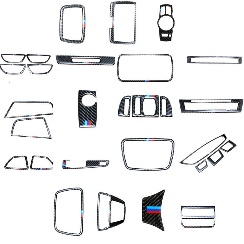 29 pieces A Set of Frame Sticker Cover Trim For BMW 5 Series F10 F18 2011 2012 2013 2014 2015 2016 2017 Car Styling chrome 3pcs interior head light lamp switch button cover trim for bmw 5 series f10 2011 2012 2013 2014 car styling