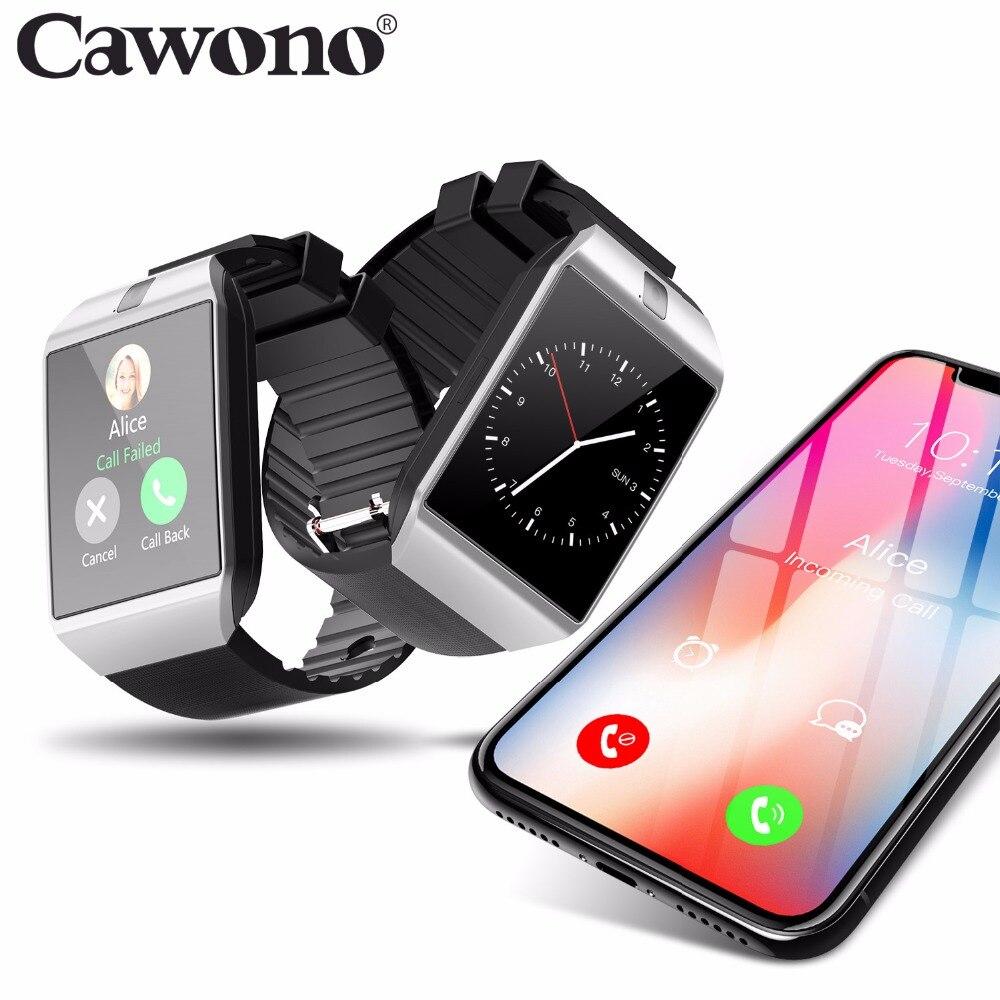 Cawono Relogio del Bluetooth reloj inteligente DZ09 Smartwatch anti-perdió SIM TF tarjeta dispositivos Wearable con cámara para Apple Android VS Y1