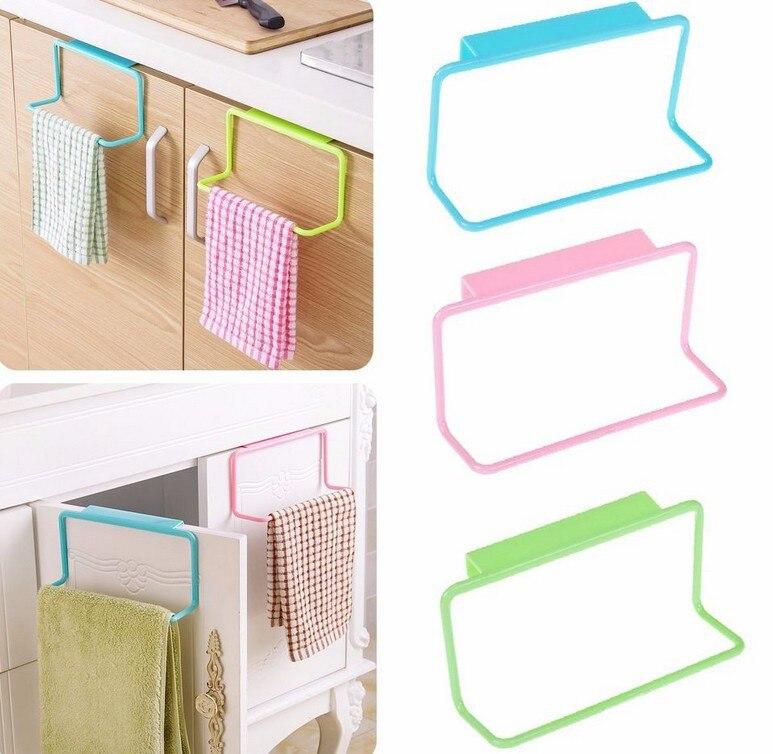 4pcslot over door tea towel rack bar hanging holder rail organizer bathroom kitchen cabinet