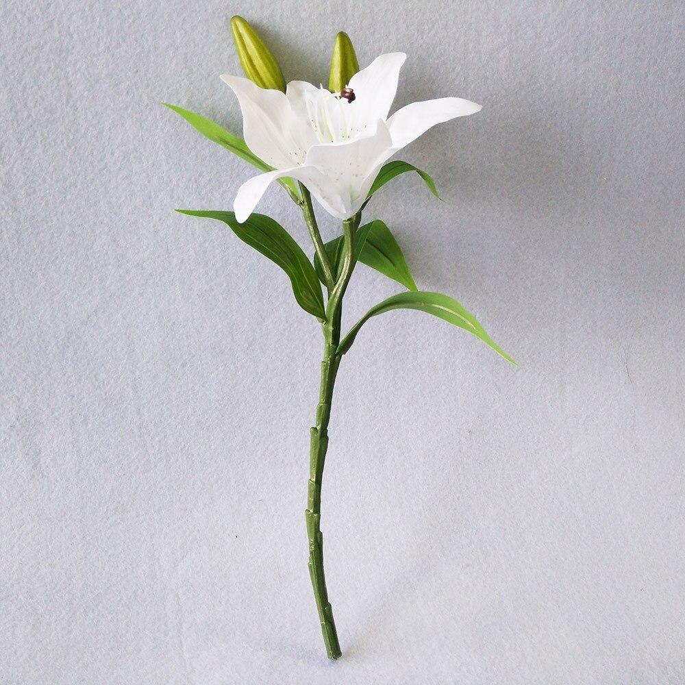 1white Lily Flower Bouquet Fake Flowers Bridal Wedding Decor Home