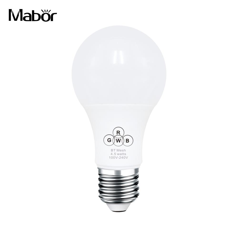 Bluetooth Light Bluetooth Smart Bulb E27 RGBW Durable Super Bright Bedroom Home Wireless Atmosphere Lamp Bluetooth Lamp