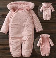 Newborn Winter Coveralls Thicker Plus Cotton Jumpsuit Warm And Soft Cotton Lining Baby Rompers Overalls