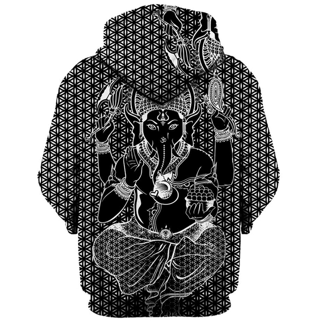 Ganesha 3D Hoodie for Men and Women