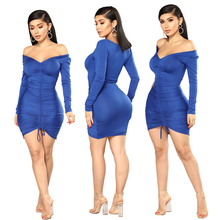 2019 Autumn Winter Women Dress  Long sleeve Sexy Tight Party Dresses Womens clothing