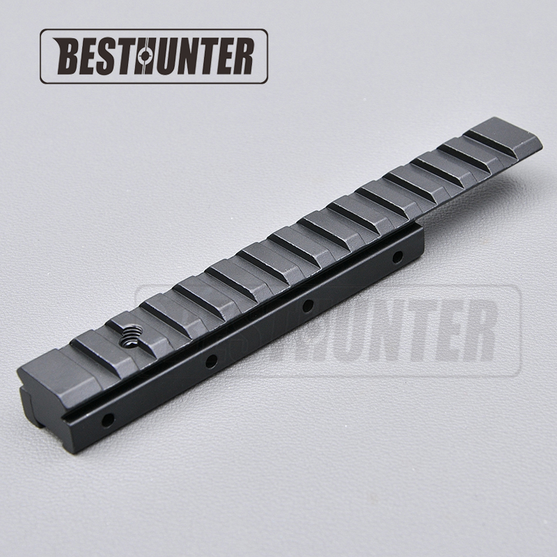 11mm Dovetail Extension to 21mm Picatinny Base Riser Rail Adapter Scope Mount