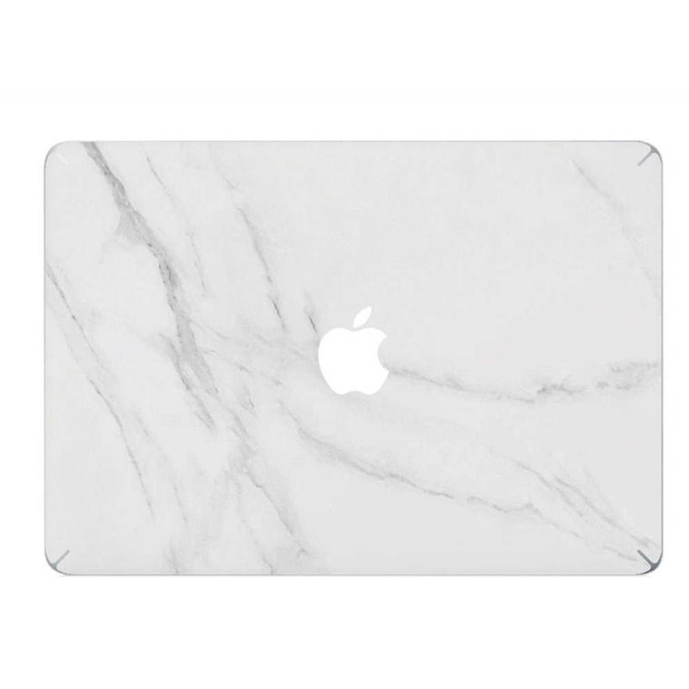 White Marble Grain Front Cover Laptop Decal Sticker Case For Apple