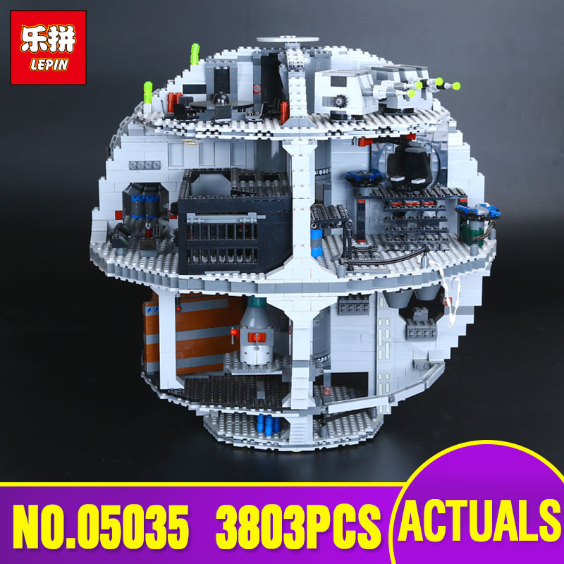 LEPIN 05035 Star 3803pcs Genuine Wars Death Educational Star Building Block Bricks Toys Kits Compatible with 10188 Children Gift new lepin 05035 star wars death star 3804pcs building block bricks toys kits compatible legoed with 10188 children educational