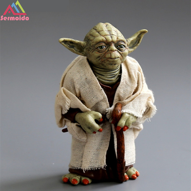 sermoido Star Wars Yoda Darth Vader Stormtrooper Action Figure Toys The Force Awakens Jedi Master Yoda Anime Figures Lightsaber горный велосипед phillips ms881 51 21