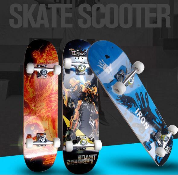 Primaire Quatre roues limite skateboard Route scooter Double Rocker Planche À Roulettes