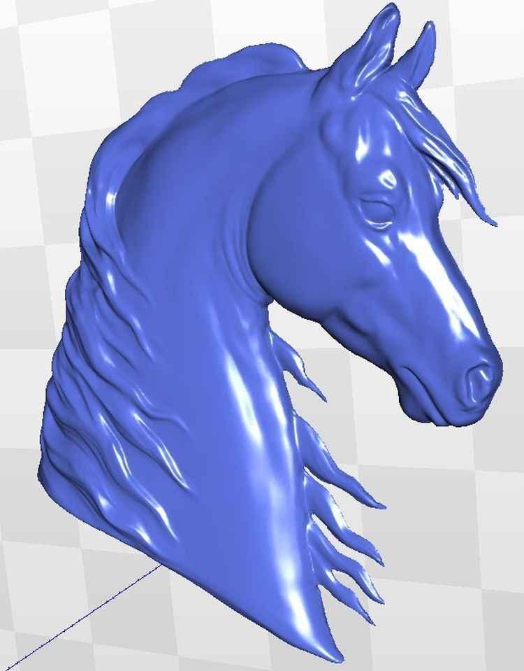 caballo 3d modelo STL para CNC 088 Router grabador de talla aparato de alivio tipo
