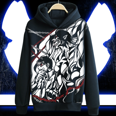 Attack on Titan Hoodie Eren Jaeger  Hooded Jacket Coat Game Long-sleeved Sweatshirt For Men Women