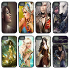 For iphone 8 7 6 6S PLUS X 5S 5C 5 SE iPod Touch 4 5 6 Cases Fantasy Elf Girl Cell Phone Case PC Hard Plastic Cover Protect Case
