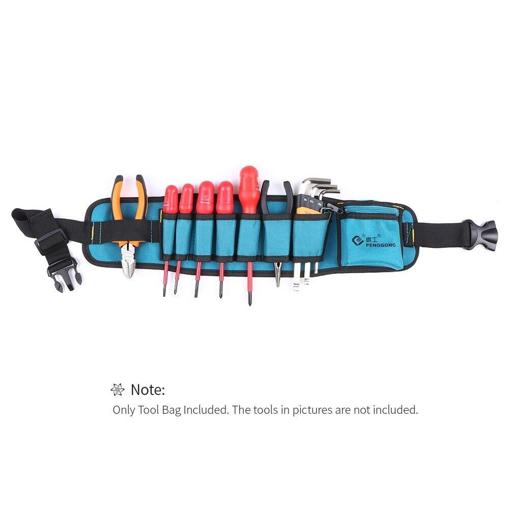 Multi-functional Waist Tool Bag Repairing Tool Organizer With Tool Belt Wearable & Waterproof For Electrician Woodworking Tools