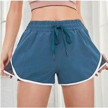 3a4244b1f9 Mujer deportes pantalones cortos rápida seco Fitness pantalones cortos de  malla de costura de entrenamiento Jogging