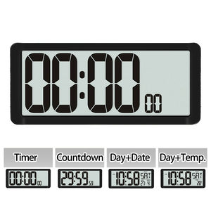 Image 1 - Temporizador de Cuenta regresiva súper grande, reloj de pared de cocina, pantalla LCD grande con temperatura, calendario, pantalla de día, reloj despertador, Mesa