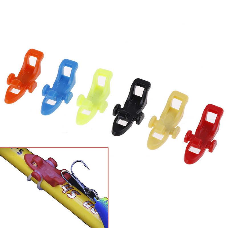 פלסטיק דיג וו Keeper עבור חכת דיג מוט דיג פתיונות פיתיון בטיחות בעל קרס דיג 6 צבעים