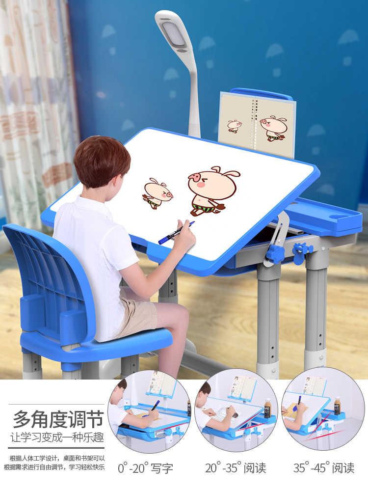 Многофункциональный детский учебный стол эргономичный детский Рабочий стол для домашних работ студенческий регулируемый стол и комбинация стульев