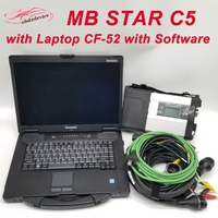 MB STAR C5 WIFI Function Scanner with Laptop CF52 with Software Ready to Use SD CONNECT 5 Better than C4 Diagnostic Tool