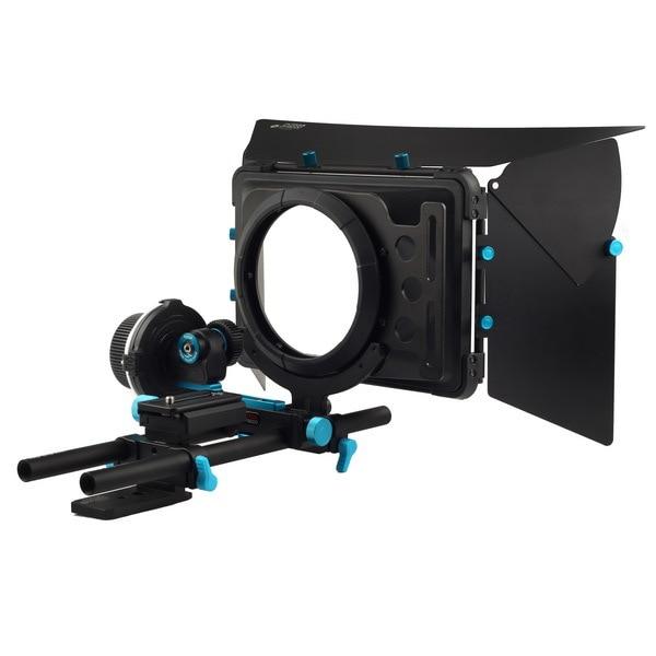 Fotga DP3000 QR follow focus for DSLR + 15mm rod rail baseplate + M1 matte box fotga dp3000 m2 rail system 15mm rod support rig for follow focus matte box