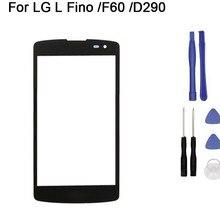 Nova tela de toque para lg l fino f60 d392 d290 d295 ms395 d390 toque digitador da tela vidro frontal do painel toque substituição + ferramenta