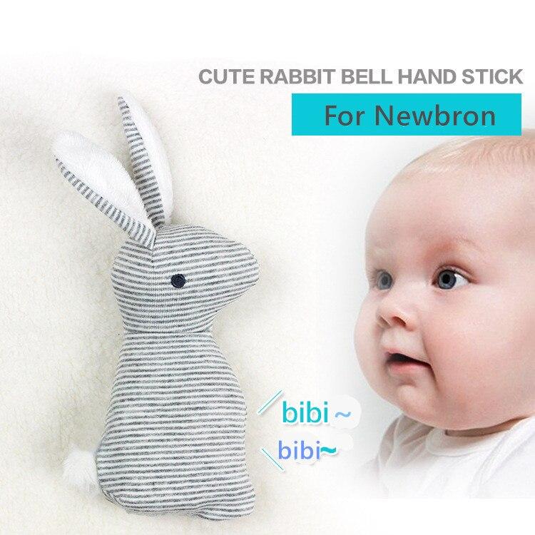 Nouvelle arrivée bébé jouet 0-1 an mignon lapin saisir BB stick bébé en peluche main jouets newbron Animal clochettes BF11