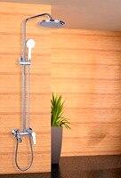現代フロア型浴槽の蛇口ポリッシュクローム浴槽の蛇口シャワー浴室かめ蛇口スーツゴールデンシャワーセット