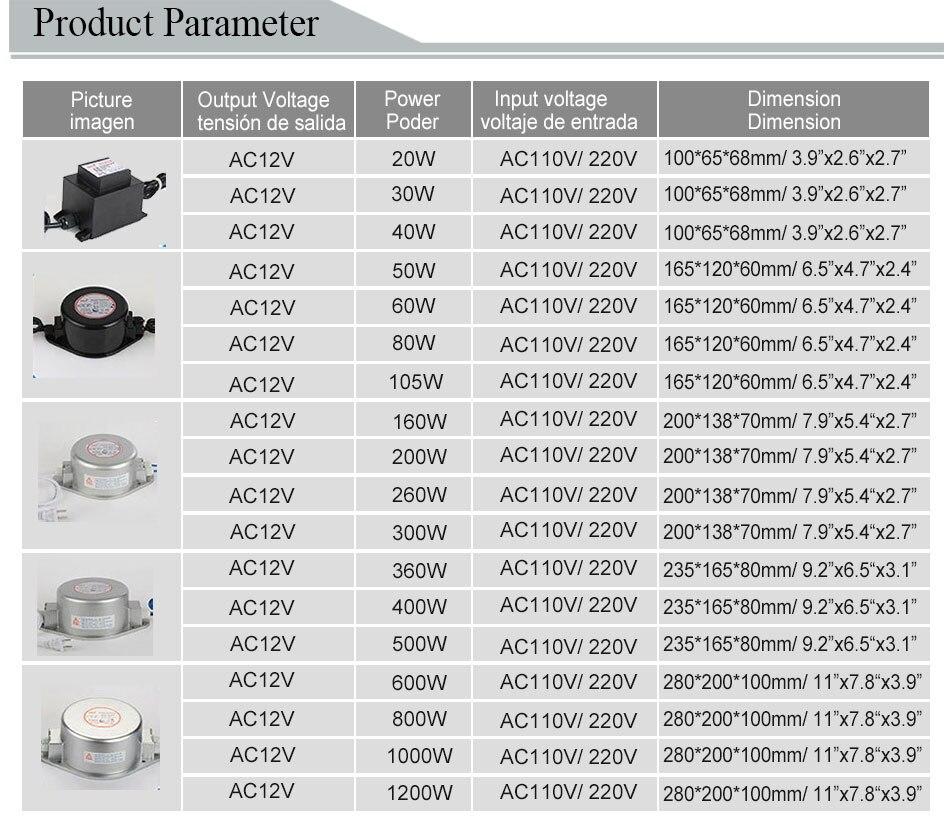 HOTOOK AC 12V napajanje IP67 vodootporni podvodni LED drajver 60W - Različiti rasvjetni pribor - Foto 3