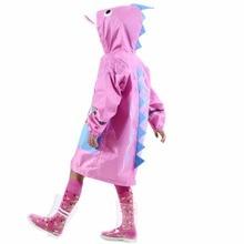 90-130cm child Cartoon raincoat rainwear for children kids girls boys baby rain coat poncho  waterproof trench