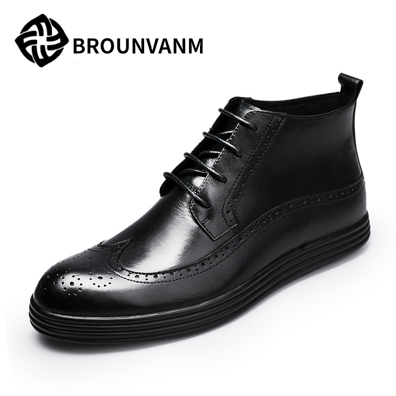 boots, men's 2017, new winter and winter men's boots, Martin boots, men's English short cylinder, retro Bullock boots, men 2017 winter new british bullock women martin boots female short boots low head sleeve knight women boots