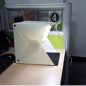 Image 4 - Mini Tragbare Falten leuchtkasten Fotografie Foto Studio Softbox Beleuchtung Kit Licht box für iPhone Samsang Digitale DSLR Kamera