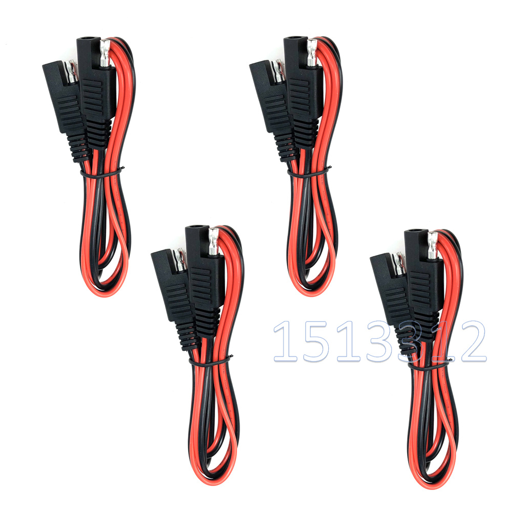 DIY Sae Cable 18AWG  SAE To SAE Extension Cable Quick Disconnect Wire Harness SAE Connector 3 Feet 4PCS