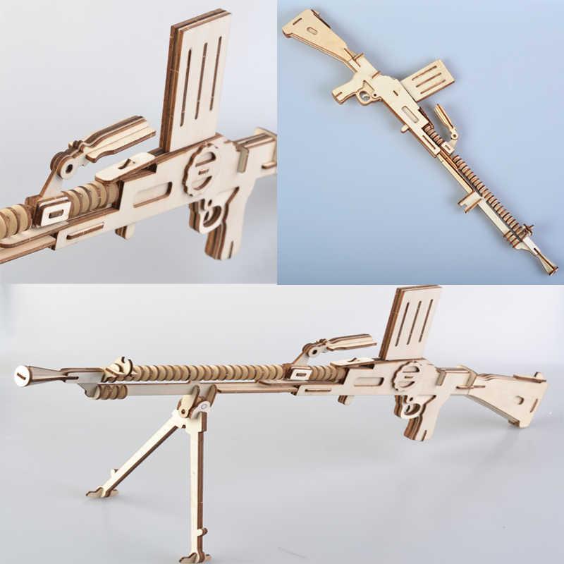 Rosana деревянный набор для моделирования детей, Сборная модель, военный пистолет, пистолет, пазлы, деревянные пазлы, подарок на день рождения для детей