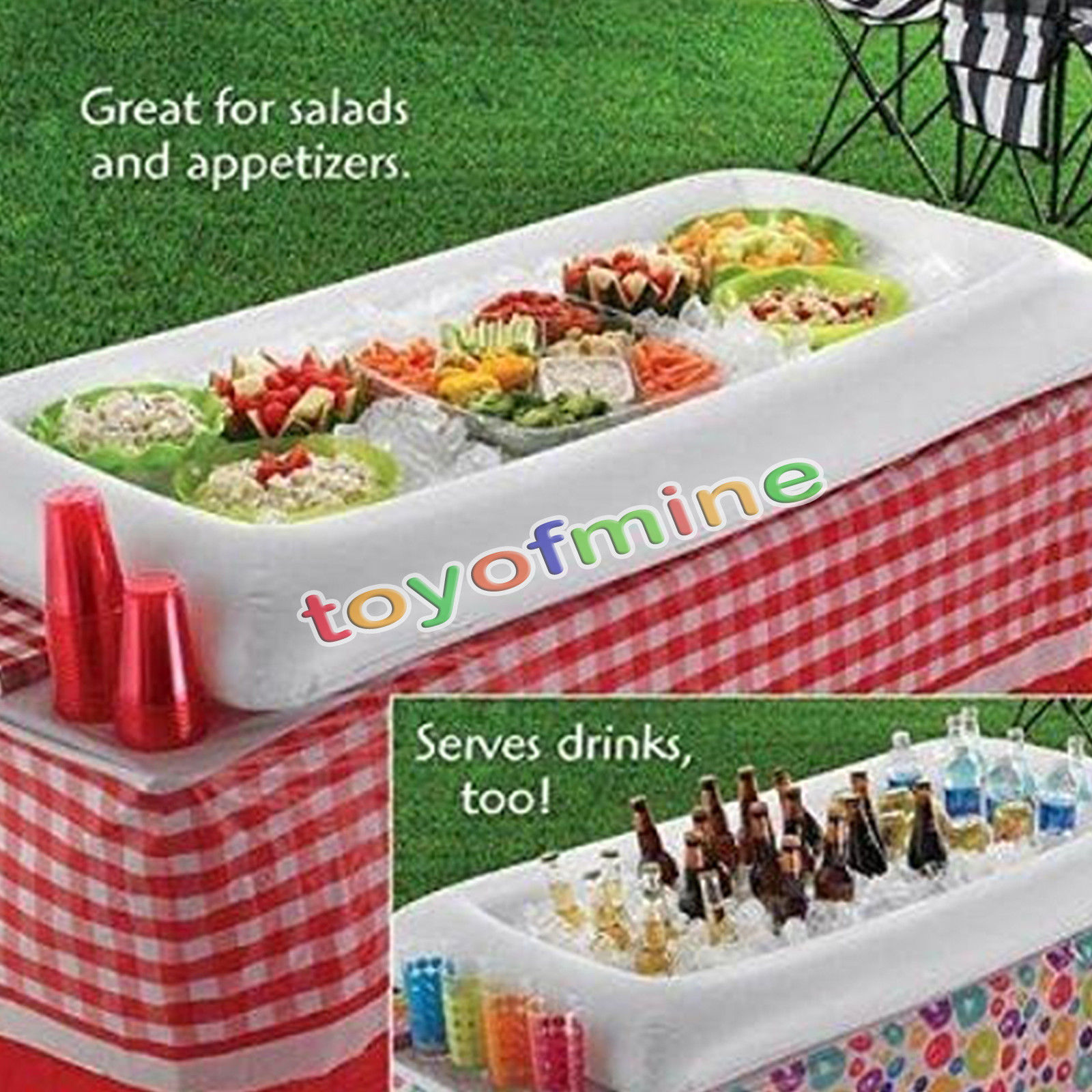 Summer Party Inflatable Salad Bar Buffet Ice Bucket Outdoor Swimming Pool Decoration Food Supplies Toy Fun Gift Wedding Birthday On Aliexpress