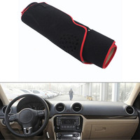 For VW Jetta 2013 2016 Car Dashboard Avoid Light Pad Instrument Platform Desk Cover Mat Silicone