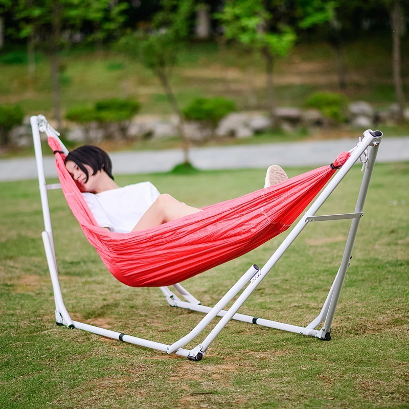 1 People Foldable Nylon Hammock Tent Folding Bed Camping Garden Hunting Leisure Travel Outdoor Portable Parachute Hammocks DC04 camping hiking travel kits garden leisure travel hammock portable parachute hammocks outdoor camping using reading sleeping