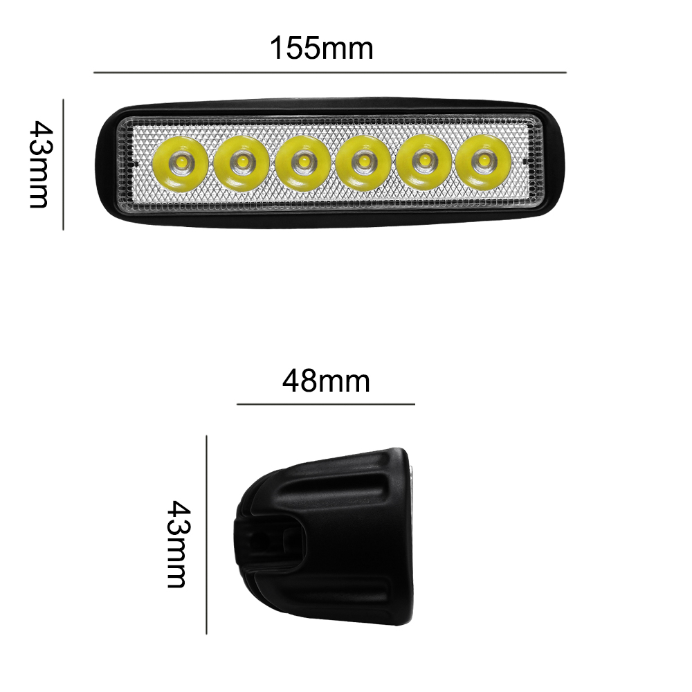 Image 3 - 6 LED Beads Combo Led Light Bars 6000K Auto Worklight Car Tractor Truck 4x4 SUV ATV Running Lamp Tractor Bar Off Road Fog Light-in Light Bar/Work Light from Automobiles & Motorcycles