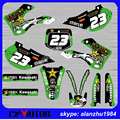 FREE SHIPPING MOTORCYCLE FOR KAWASAKI KX125 KX250 99-02 ROCKSTAR 3M GRAPHICS BACKGROUND DECALS STICKERS KITS DIRT BIKE