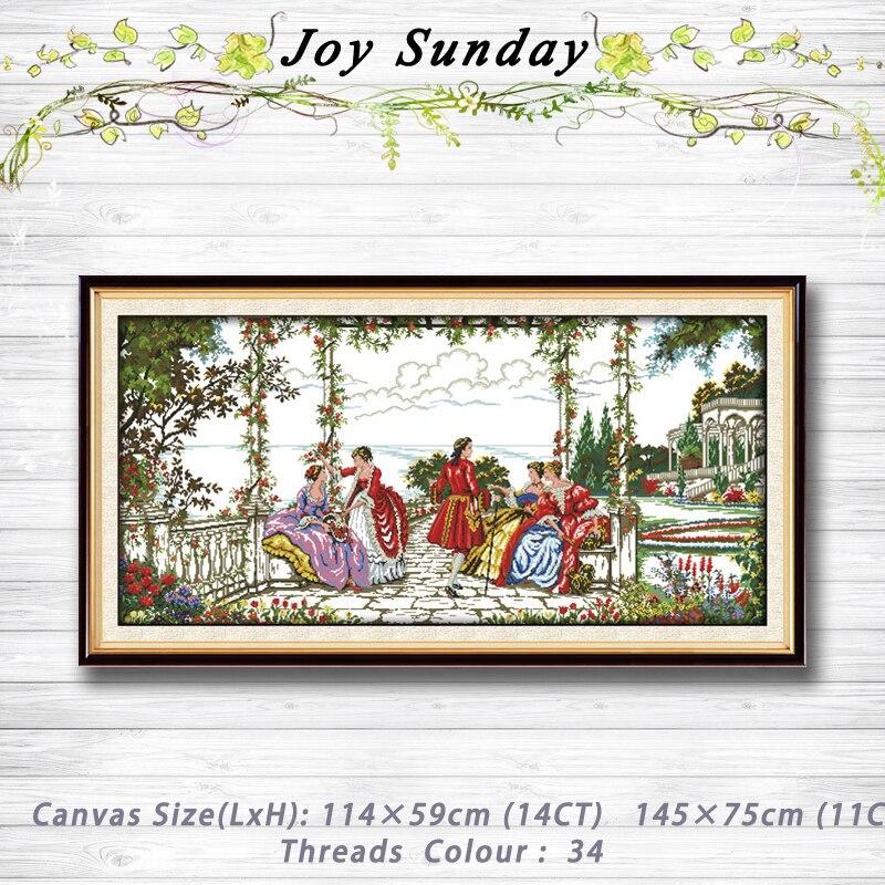 Peinture de paysage de vie aristocratique dmc 14CT 11CT kits de point de croix compté ensemble de broderie ensemble de couture point de croix chinois