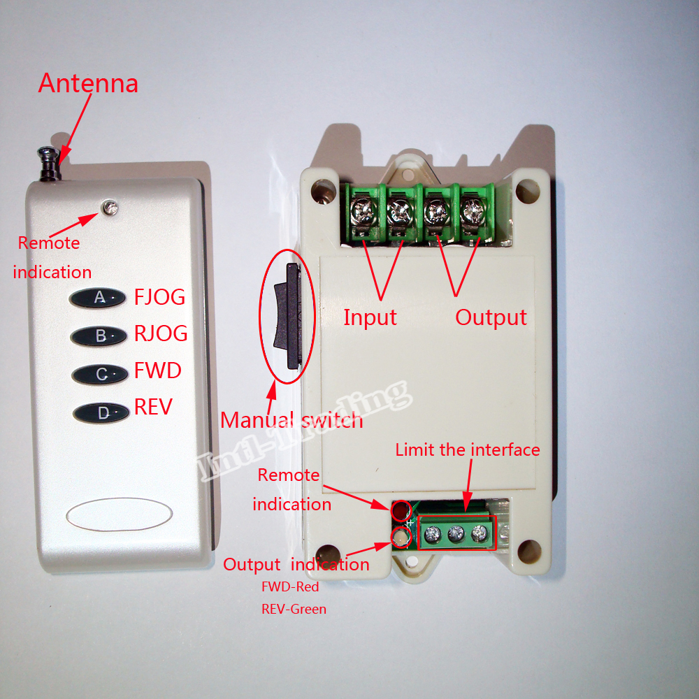 aliexpress com buy 12v 24v dc motor controller motor wireless 12V Linear Actuator Wiring Diagram Linear Actuator Wiring For Dual Switches aliexpress com buy 12v 24v dc motor controller motor wireless remote control switch system tubular motor controller forward reverse from reliable switch