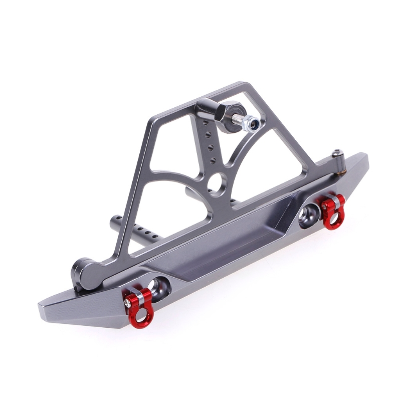 1/10 Rock Crawler Car Axail SCX10 Rear Bumper with Spare Tire Rack Winch Hook 100% brand new and high quality Easy to install