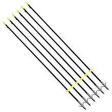 Бесплатная доставка, GPP 32 дюйма, черные охотничьи стрелы для ловли Bowfishing с широкой головкой, 6 шт./PK