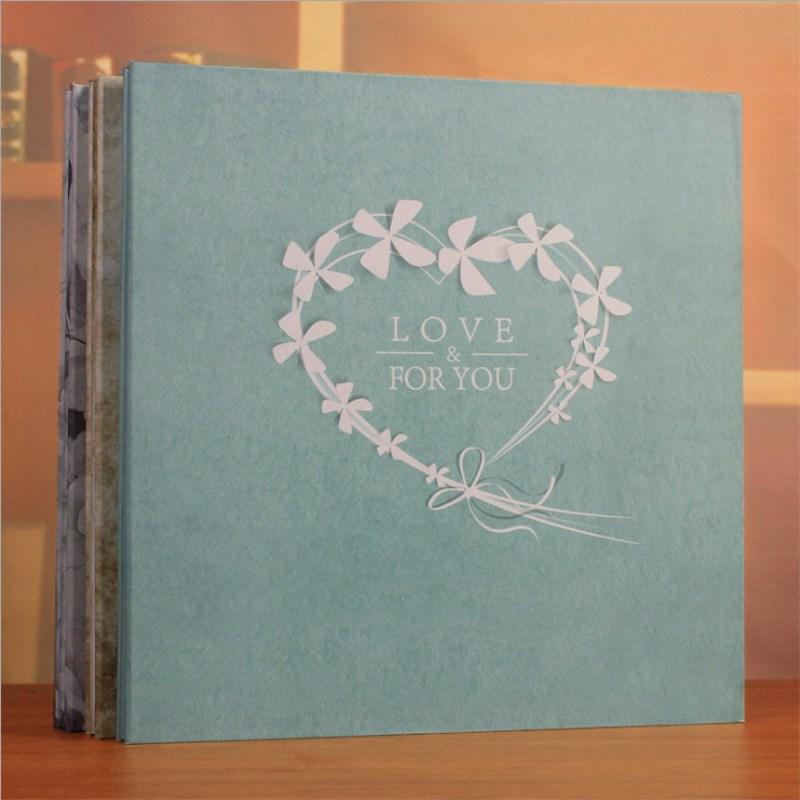 Large 18inch Scrapbooking Photo Album Handmade DIY Hard Paper Wedding Photo Album Memory Scrapbook Picture Albums
