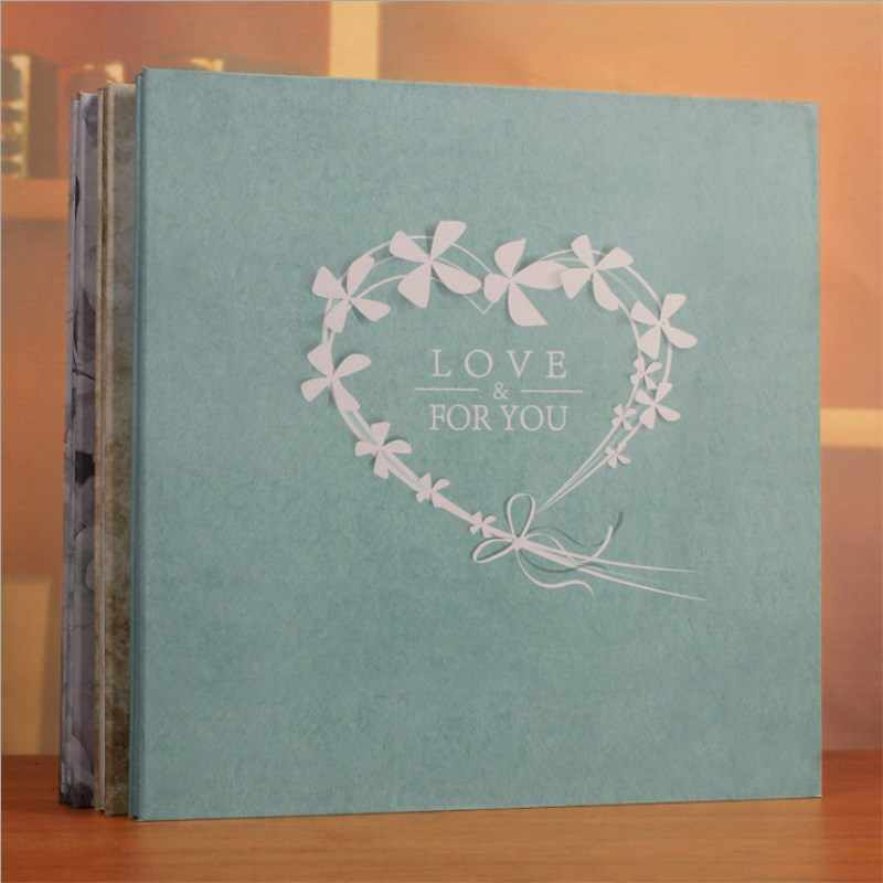 Large 18inch Scrapbooking Photo Album Handmade DIY Hard Paper Wedding Photo Album Memory Scrapbook Picture Albums