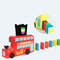 Domino Train Domino Blocks Set Building and Stacking Toy Blocks for building block gift box educational toy for babies