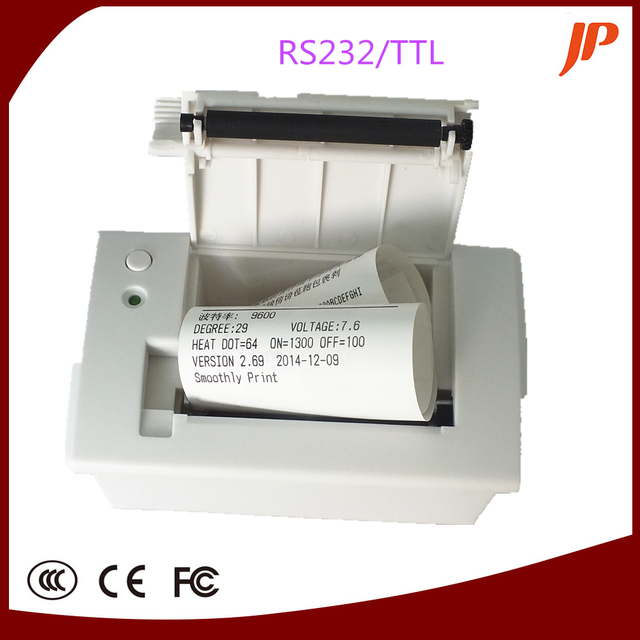 Free shipping Embedded thermal printer,panel printer RS232 TTL Printer