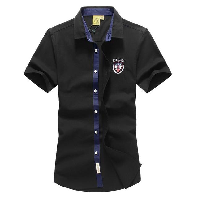 2017 new summer shirt 100% cotton high quality brand men's shirts Business Casual Men Shirt Short Sleeve  Men Clothes