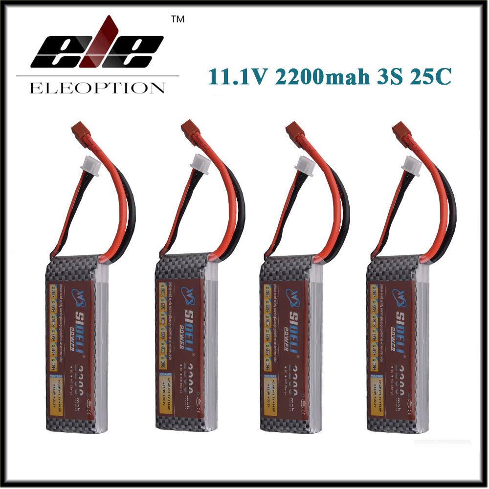 4 Pcs 111 V 2200 Eleoption Mah 3 S 25c Lipo Baterai Untuk Rc Charger Desktop 1 Slot Rokok Elektrik Kipas Pb Mobil Truk Helicopter Pesawat Bingkai Kit Dengan Xt60 T Plug
