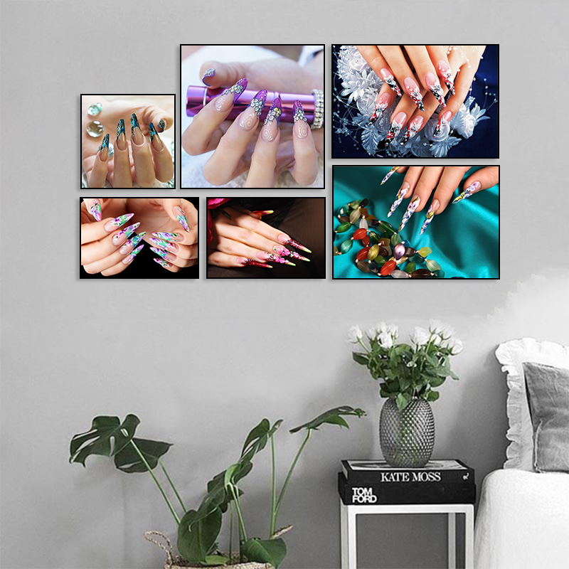 Nordic Colorful Nail Polish Canvas Painting Poster Wall