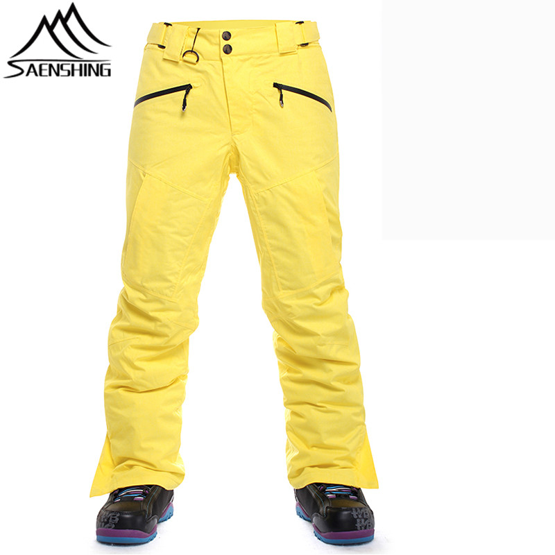 SAENSHING professional winter snowboard pants outdoor hiking ski pants for men snowboarding trousers high quality plus size S-XL high quality men s pants climbing stretch plus size l 5xl outdoor sport trousers for men breathable slim fit homme pantalones