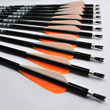 Free shipping 12pcs Replaceable Arrowhead,30inch,Spine 340, Aluminium Arrows,Hunting Bow Arrows,for Compound/Recurve Bow